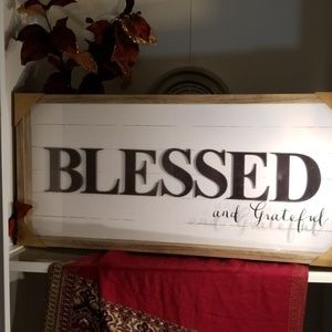 "Large glass encase ""Blessing ""art picture"